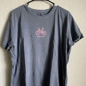 Life is good Biker Chick shirt XL